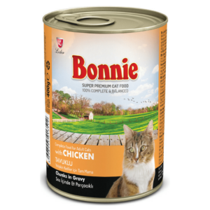 Bonnie Adult Cat Canned Chicken Chunks in Gravy