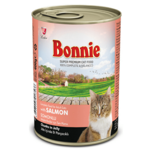 Bonnie Adult Cat Canned Salmon Chunks in Jelly