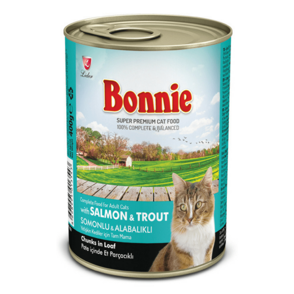 Bonnie Adult Cat Canned Salmon Trout Chunks in Loaf Pate