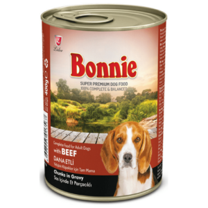 Bonnie Adult Dog Canned Beef Chunks in Gravy