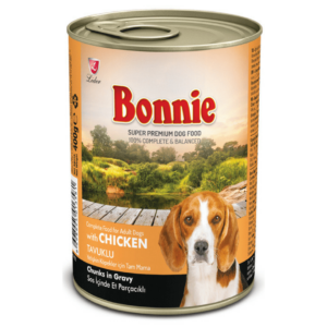 Bonnie Adult Dog Canned Chicken Chunks in Gravy