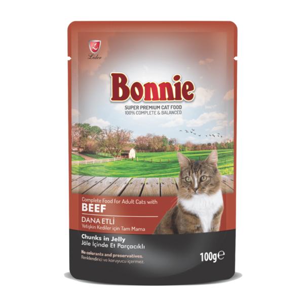 Bonnie Adult Cat – pouch beef 100g-min
