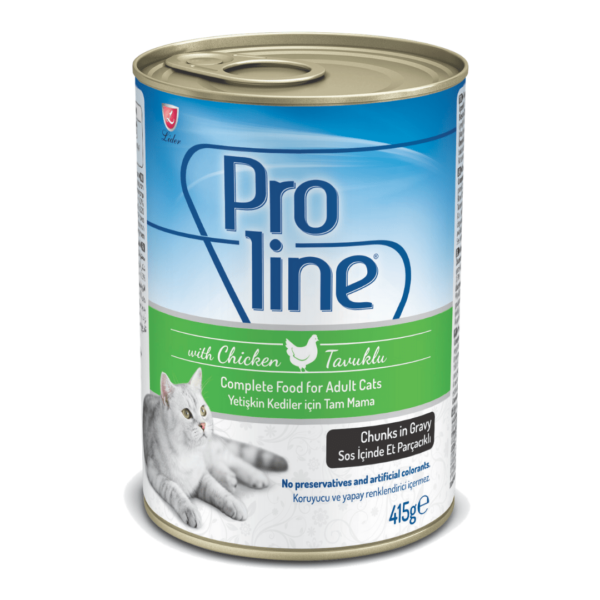 Proline Adult Cat Can Chicken Chunks in Jelly 400g 1080×1080-min