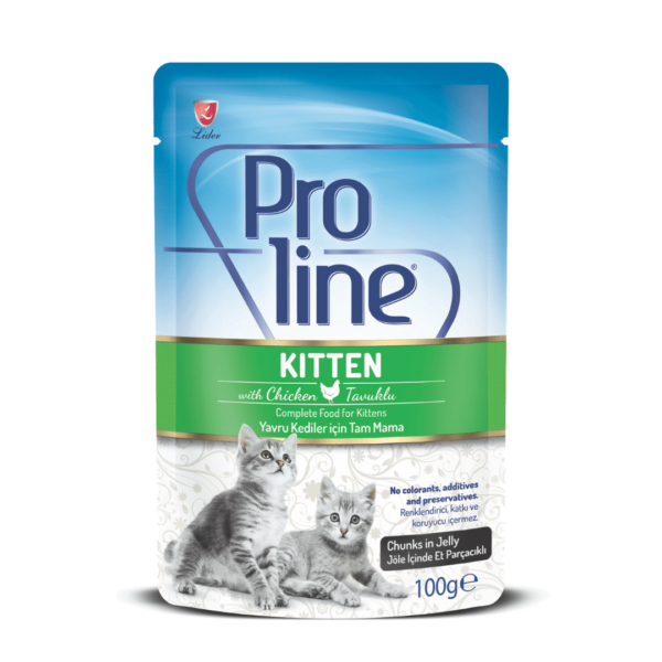Proline Kitten Pouch Chicken Chunks in Jelly 100g 1080×1080-min