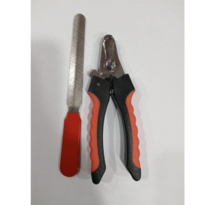 Nail Clippers with file - Large - Black and Red